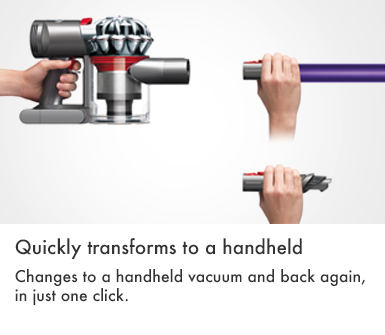 Dyson V7 AnimalPlus Quickly Transforms